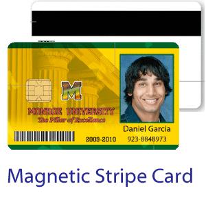 Magnetic stripe ID card - medium security