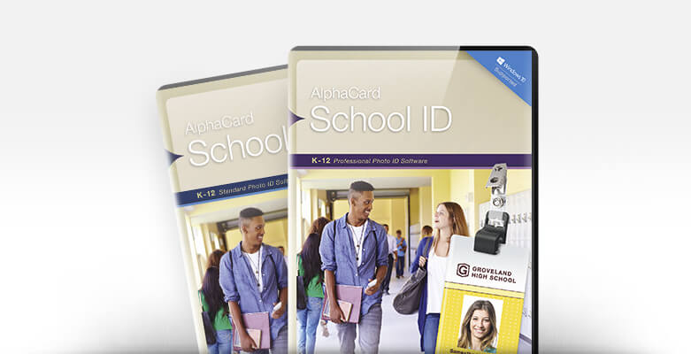 New AlphaCard School ID Student ID Card Software