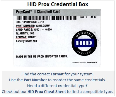 Find the right HID prox format and part number - IDCardGroup.com