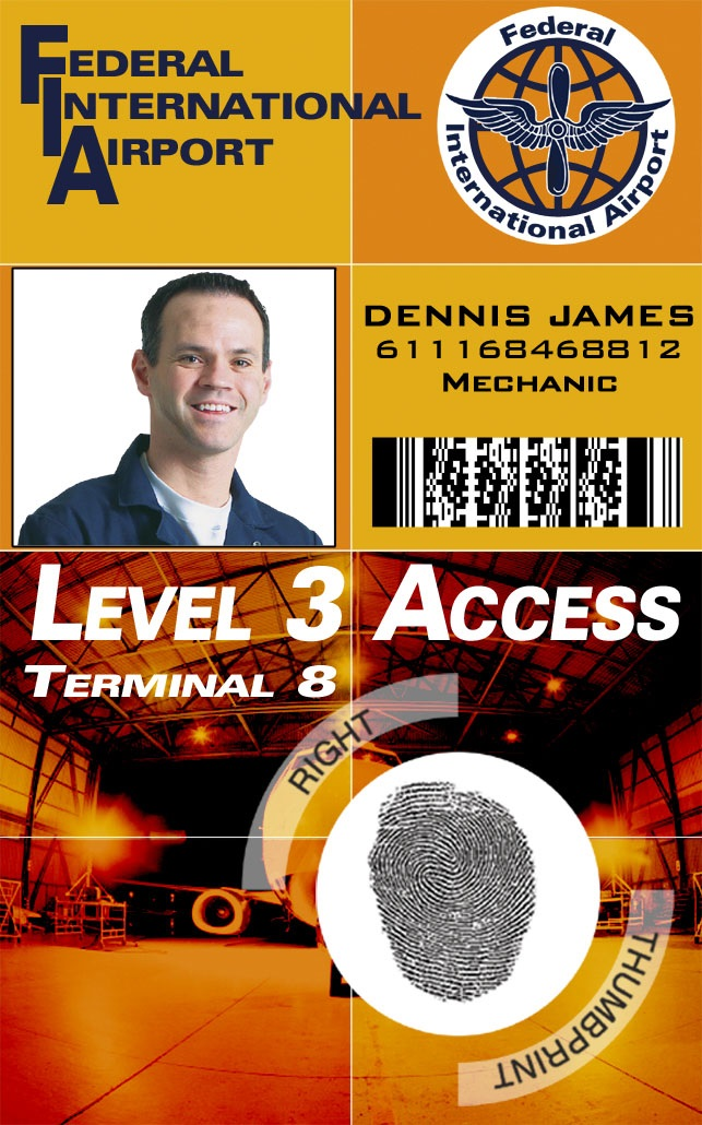 Sample access control smart ID card - IDCardGroup.com