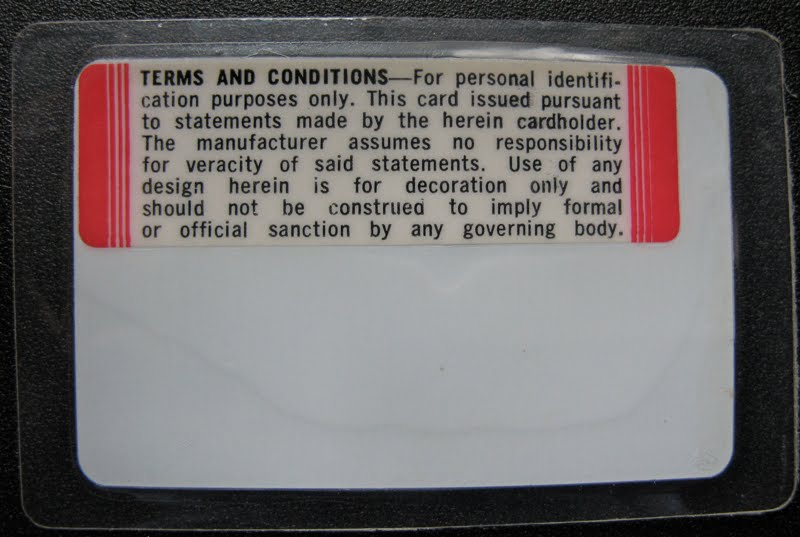 back of badly made id cardx