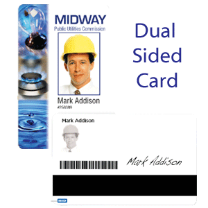 sample dual-sided ID card - IDCardGroup.com