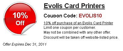 Evolis Card Printer Coupon Savings - Save 10%