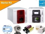 Evolis Zenius Card Printer with Starter Kit