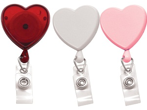 Heart shaped badge reels - great for heart awareness