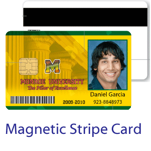 Magnetic stripe ID card - medium security