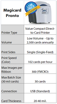 Magicard Pronto Card Printer Quick Facts - IDCardGroup.com