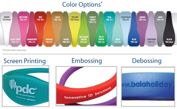 Uband wristbands can be customized for your campus