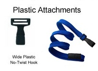 Wide No Twist Plastic Recyled P.E.T. Lanyard Attachment