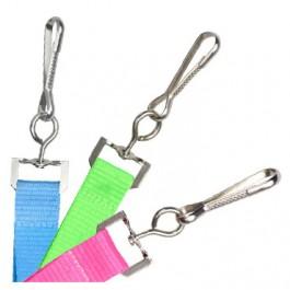 Swivel Hook Yellow 5//8 Wide 36 Flat Microweave Breakaway Lanyard 100//bag