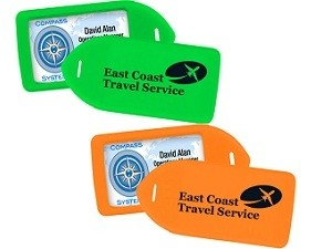 1840-62yy Neon Rigid Luggage Tag-Pack of 100