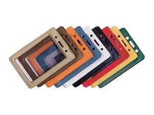 Vertical Color Frame Hanging Badge Holder-100 pack