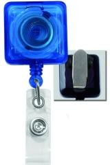 Square Badge Reel with Spring Clip - 25 pack