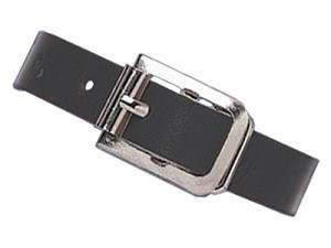 5 Black Leather Luggage Strap-Pack of 25