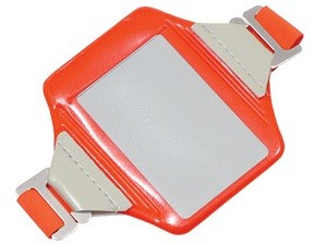 Orange Reflective Arm Band Badge Holder-100 pack