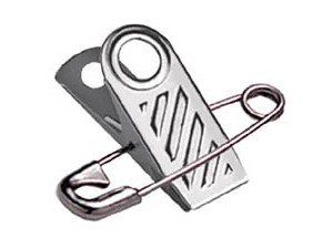 Badge Clip 5735-1000 w/Attached Pin 5,000 pack