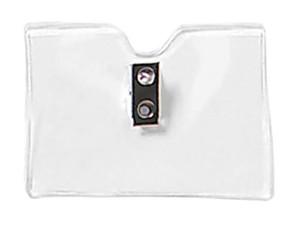 Standard Horizontal Clip Badge Holder-100 pack