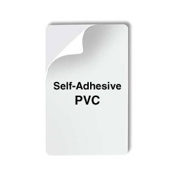 Blank Adhesive PVC Card - Pack of 100