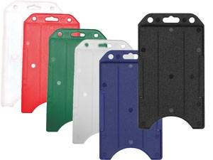 Vertical Rigid Plastic ID Badge Holder-50 pack