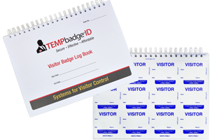 Temporary Visitor Badges In Handy Log Book Low Prices