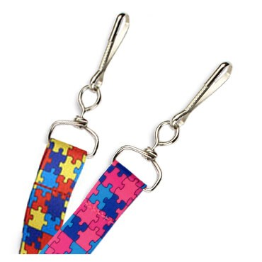 """3/4"""" Autism Puzzle Lanyard – Pack of 100"""