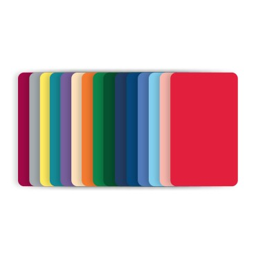 Blank Color PVC Cards CR80 30 mil - Pack of 100