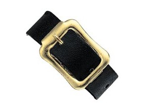 2420-2101 7 Black Leather Luggage Strap-25 Pack