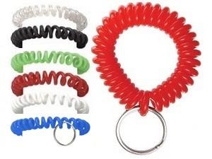 Plastic Wrist Coil w/Key Ring-250 pack