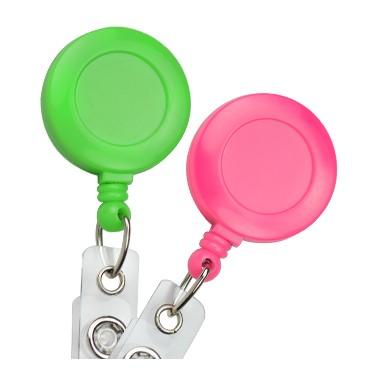 Neon w/Slide Clip-25 Pack Badge Reels