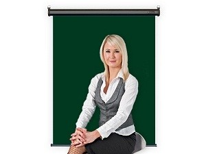Photo ID Backdrop Retractable Wall Mount