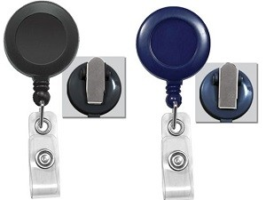 Round Badge Reel w/Spring Clip-Pack of 25