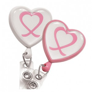 Awareness Heart Badge Reel – Pack of 25