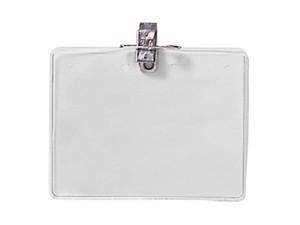 Horiz Clip, Pin & Hang Combo Badge Holder-100 pack