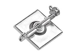 Swivel Bar Pin Badge Clip 5735-2150 - 100 pack