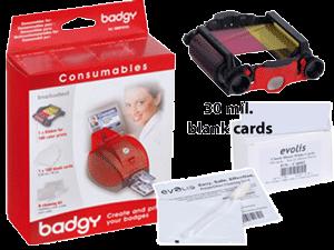 Evolis VBDG205EU Badgy Supplies Kit