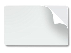 White Blank Adhesive Cards-Pack of 100
