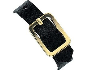 6 Black Leather Luggage Strap-Pack of 25