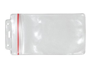 Hanging Zip Lock Ticket Credential Holder-100 pack