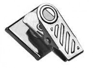 1-Hole Ribbed Badge Clip 5735-2000-100 pack