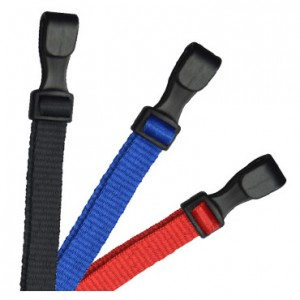 "Safety 3-Breakaway 3/8"" Flat Microweave Lanyards – Pack of 100."