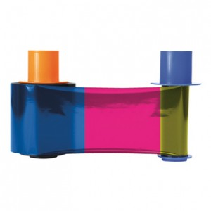 Fargo 45214 YMCKO Half Panel Ribbon