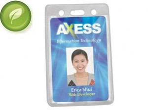 Eco-Friendly Badge Holder (Vertical)-100 Pack
