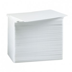 Blank White PVC Cards from Datacard - Pack of 500