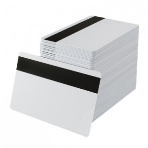HICO Magnetic Stripe Blank PVC Cards - 100 pack
